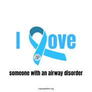 I Love With Blue Ribbon