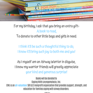 Birthday Book Drive Flyer