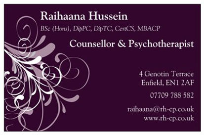 Raihaana Hussein Counselling and Psychotherapy Enfield