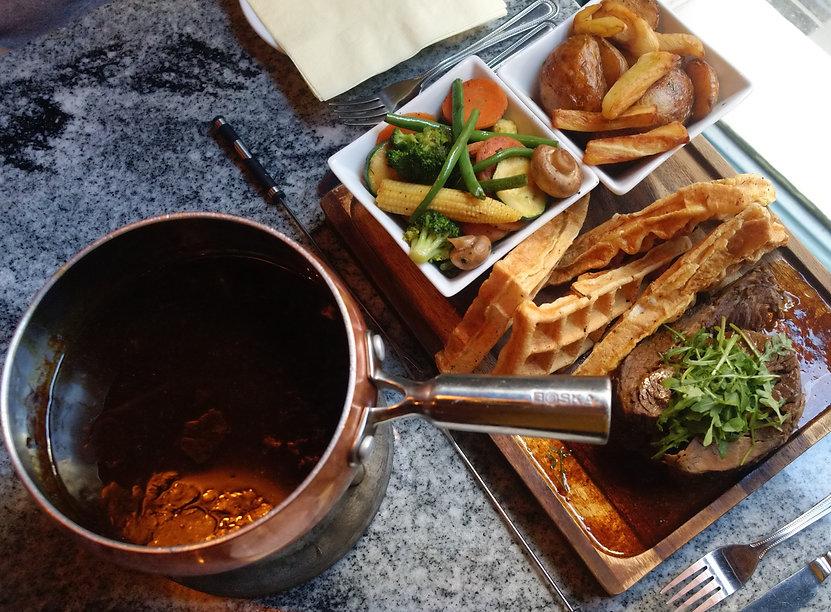 Bock Biere Cafe Sunday Roast Fondue