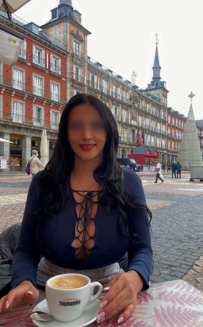 Desde la Plaza Mayor en el Mercadillo Navideño