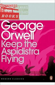 Pink cover of Keep the Aspidistra Flying by George Orwell