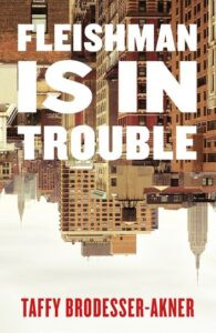 Book cover of Manhattan skyline upside down with white text