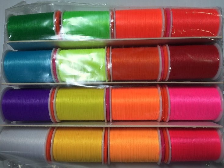 Glo-Brite Floss Selection 16 Rolls x 25yrds