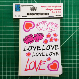 Love Temporary Tattoos