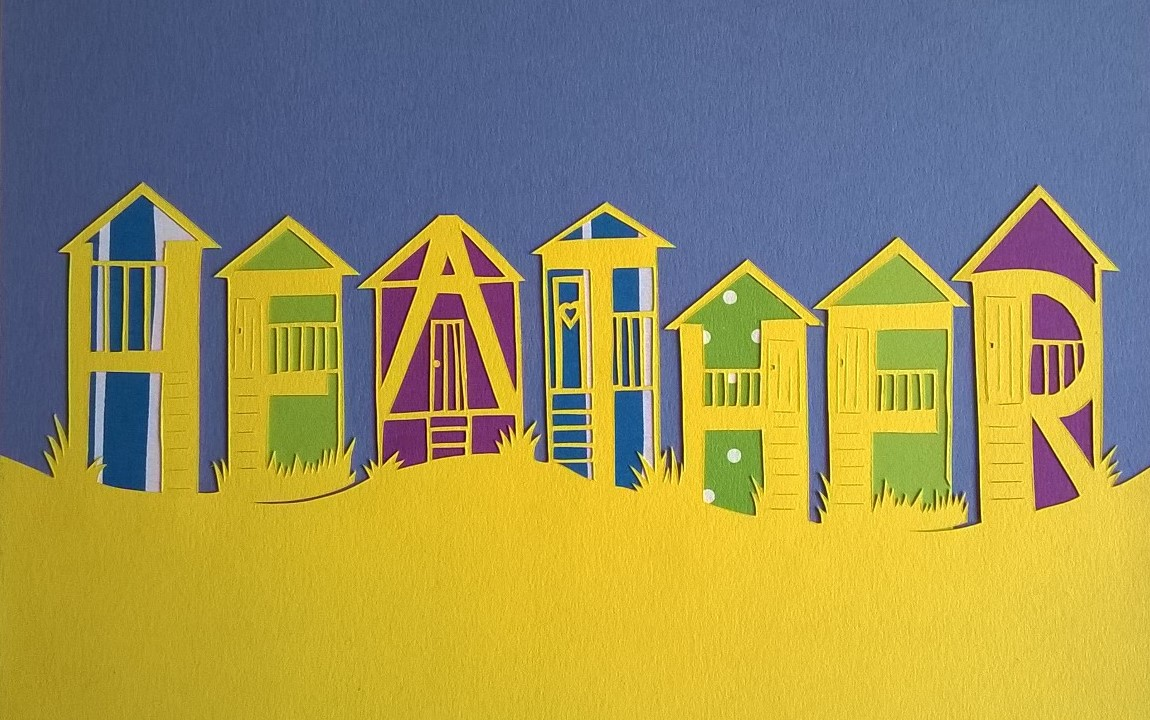 Beach huts for Heather