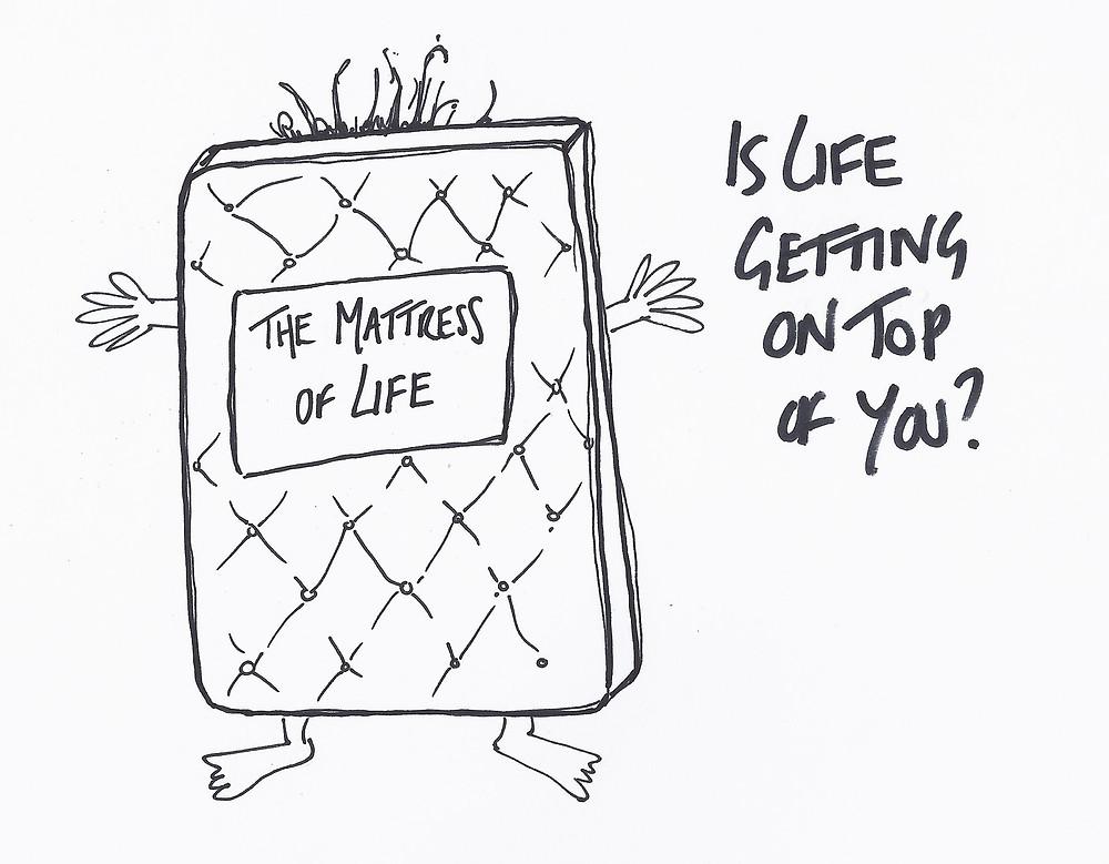 The Mattress of Life cartoon by Sam Hickman