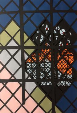Church (leaded window)