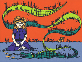 Page spread for Alice in Wnderland
