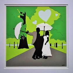 Wedding papercut collage
