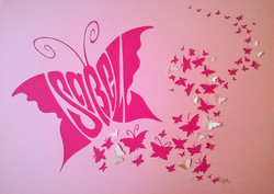 Personalised papercut butterfly art