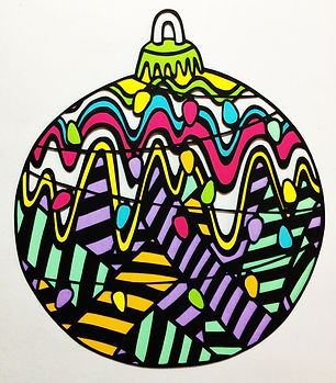 Christmas Bauble Papercut Card