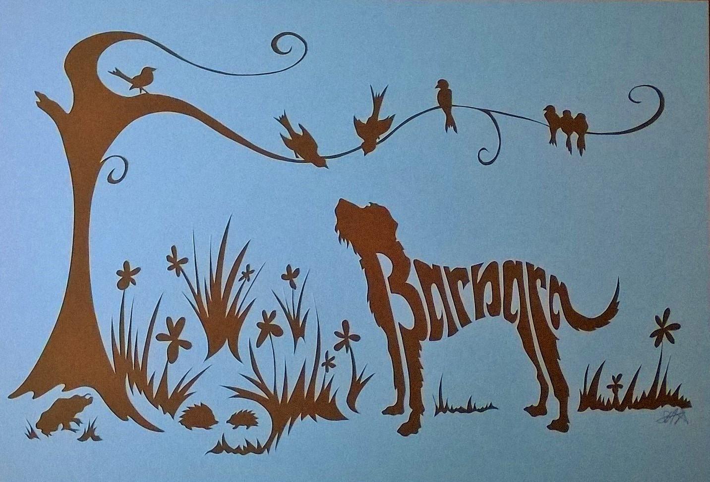 Personalised papercut for Barbara