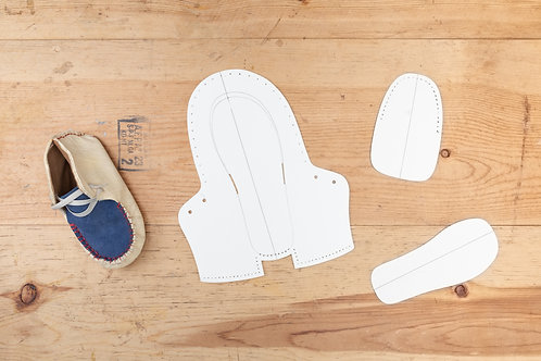 Paper Pattern for Baby Unisex Mocassins -男女裝BB鞋紙樣