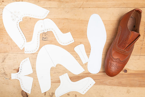 Paper Pattern for Oxford Shoes - Unisex /男女裝牛筋鞋紙樣