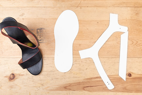 Paper Pattern for Ladies High/Mid Heels Sandals Template / 女裝涼鞋中跟紙樣