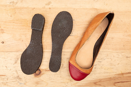 Rubber Cement Sole for Ladies Ballet Flats - Round / 生膠低-女裝平底鞋 -圓頭