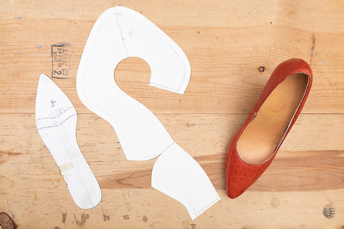 Paper Pattern for Ladies High Heels Shoes (Pointy) Template / 女裝高跟(尖頭)紙樣