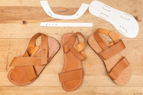 Paper Pattern for Adults Sandals (3 styles) - 男女裝涼鞋紙樣 (3款)