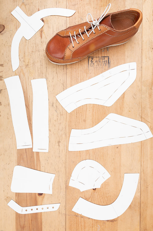 Paper Pattern for Leather Sneakers - Unisex /男女裝波鞋紙樣