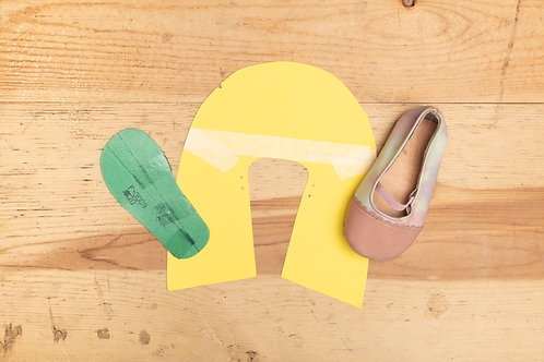 Paper Pattern for Baby Shoes - Mary Janes (Girls)-女裝BB鞋紙樣