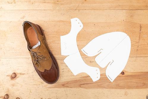 Paper Pattern for Derby WingTip - Unisex /男女裝德比Wingtip鞋紙樣