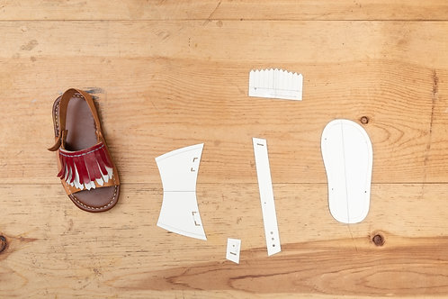 Paper Pattern for Baby Unisex Tassels Sandals -男女裝BB涼鞋紙樣
