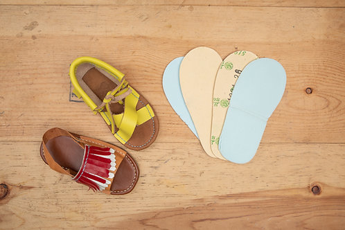 Baby Sandals Shoes : Paper insole + Foam (1set) / BB 涼鞋 紙低 + 海綿 1 對 (以切出)