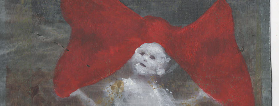 Girl with a Red Bow detail
