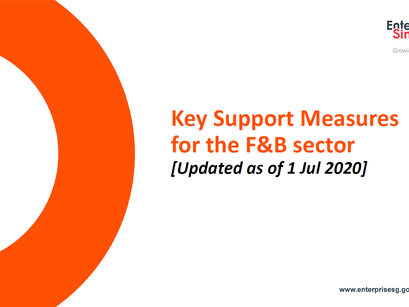 Summary of key Government support measures for F&B sector by ESG (updated as of 17 April 2020)