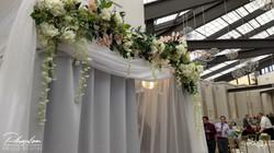 White Elegance Floral Header