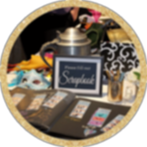 Scrapbook Station with Staging Photo Booth Addon Fall River Country Club