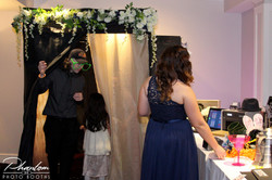 Guests using Decorated Booth