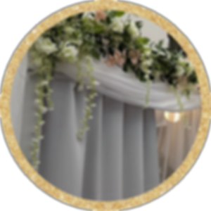 White Elegant Photo Booth with Floral Staging Crowne Plaza Warwick Rhode Island