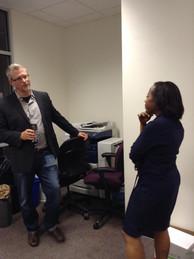 Writer/Director Deborah Riley Draper with Dr. Dan Durbin