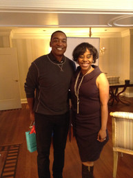 Writer/Director Deborah Riley Draper & interviewee Isiah Thomas, NBA Hall of Fam
