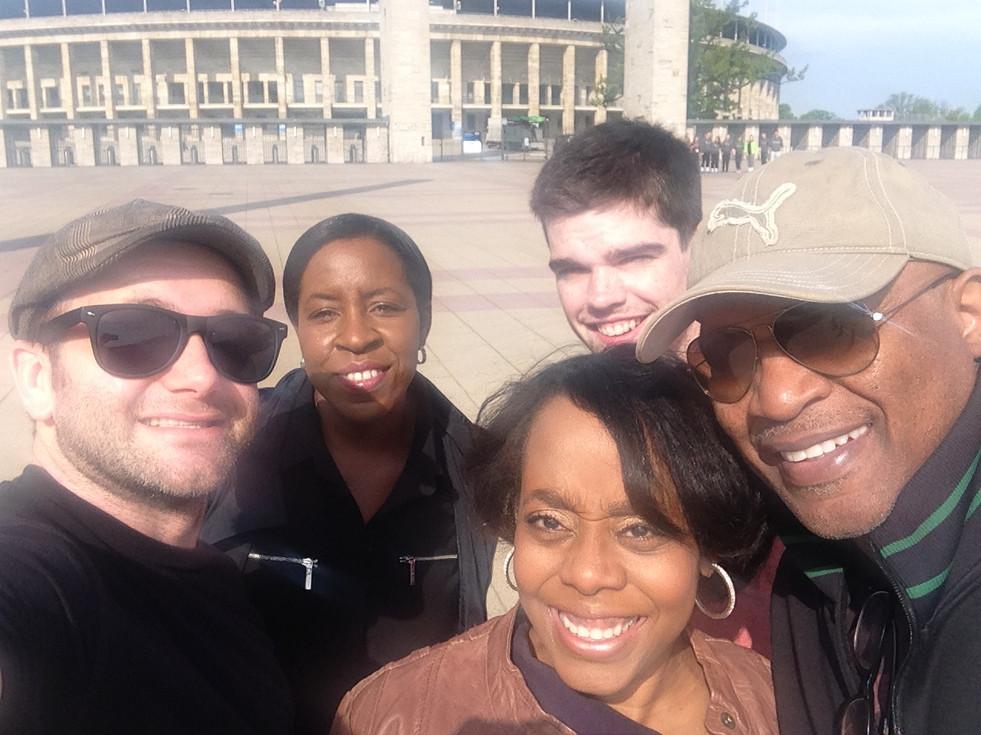 The crew: Cinematographer Jonathan Hall, Line Producer Lacy Barnes, Writer/Director Deborah Riley Draper, 2nd Unit DP Colin Heffernan, Executive Producer Mike Draper