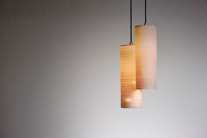 PORCELUME_Ceramic Pendant Lights and Hand Made Lighting_Bongo Pendants