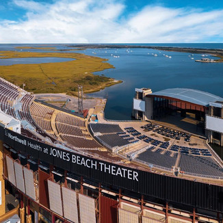 A View of Jones Beach Amphitheater by Drone
