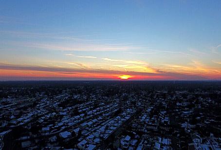 Winter Flying Sunset