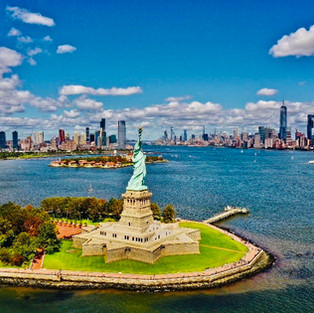 NYC and Statue of Liberty by Drone