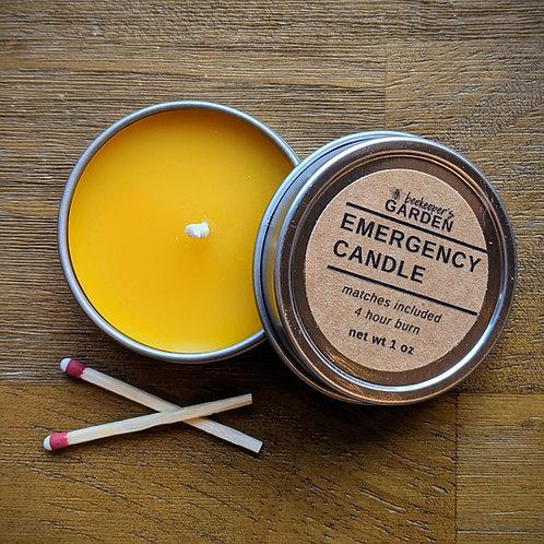 Emergency Beeswax Candle