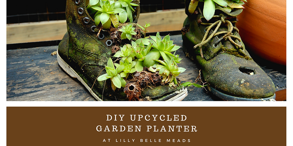 DIY Upcycled Planters @ Lilly Belle Meads