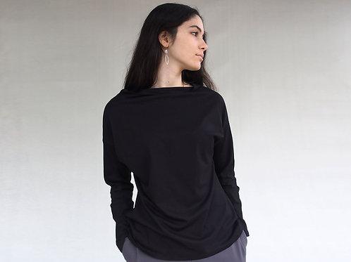 חולצת יפן שרוול שחור