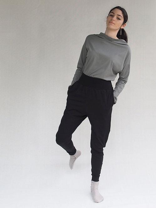 מכנסי פולי שחור