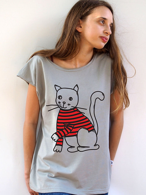 חולצת בויפרינד חתול