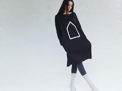 שמלת כיסים בית שחור