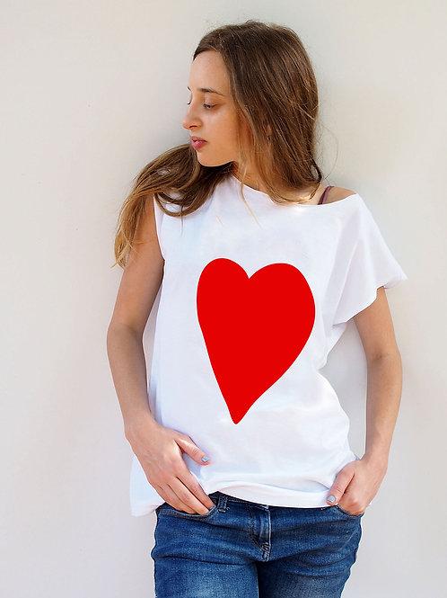 חולצת בויפרינד לב אדום