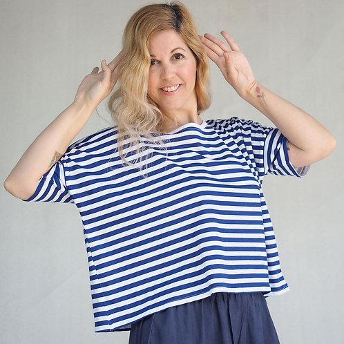 חולצת לולו פסים כחול לבן
