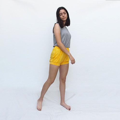 Iyengar Shorts, yellow tie dye